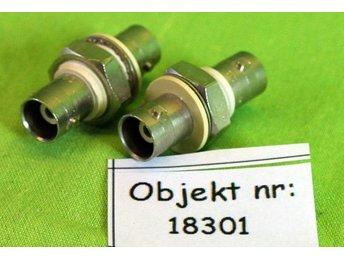 BNC-kontakter 2 st för panel (18301) - Bandhagen - BNC-kontakter 2 st för panel (18301) - Bandhagen
