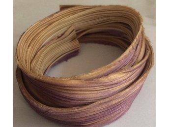 Shibori Silke 20cm, beige lila toner - Bålsta - Shibori Silke 20cm, beige lila toner - Bålsta