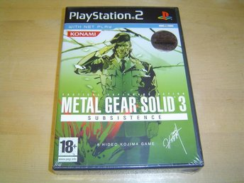 Metal Gear Solid 3 Subsistence Sony Playstation 2 PS2 PAL *NYTT*