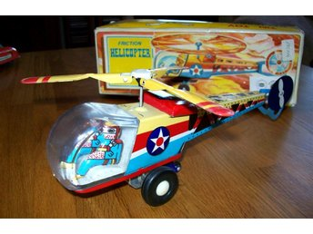 TIN TOY HELICOPTER I PLÅT / FRICTION