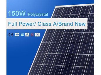 Solpanel Solcell Solfångare 150W *NY A Grade Polycrystalline
