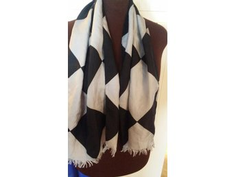 sjal scarf halsduk siden VINTAGE - Gustavsberg - sjal scarf halsduk siden VINTAGE - Gustavsberg