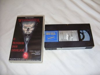 Wes Cravens Wishmaster Portugal ex hyrfilm utgåva VHS PAL Skräck & Horror movie