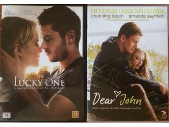 """The Lucky One"" och ""Dear John"" , två romantiska draman i DVD-paket"