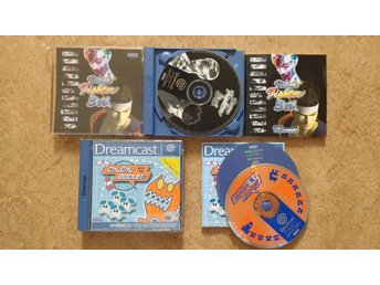 SEGA Dreamcast: Chu Chu Rocket + Virtua Fighter 3B (trasiga fodral)