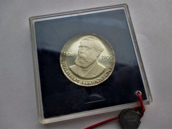 Ddr 20 mark, 1976 proof wilhelm liebknecht km#63