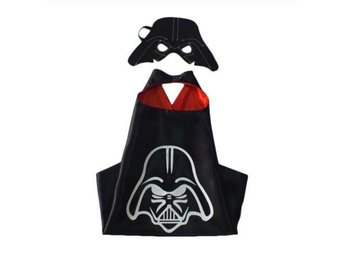 STAR WARS Satin  Kappa Kostym med en mask present pojke DARTH