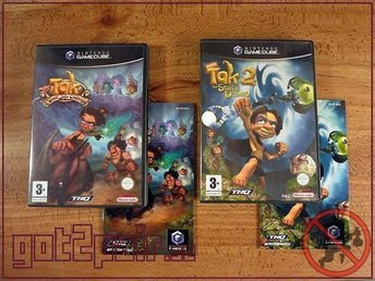 Tak The Great Juju Challenge + Tak 2 The Staff Of Dreams till Gamecube / GC