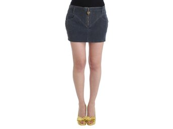 Cavalli - Blue corduroy mini skirt