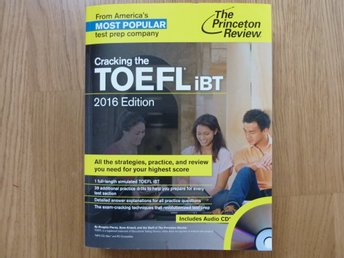 Bok / övningsbok: Cracking the TOEFL iBT 2016 edition. The Princeton Review. NY