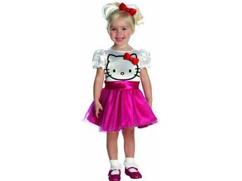 Hello KItty dress med Kitty diadem! Storlek 2 år