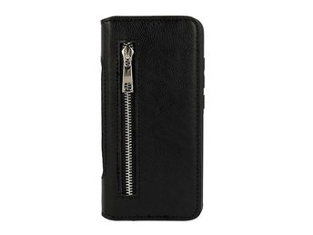 2in1 Wallet Business Zip Samsung Galaxy J4 PLUS Plånboksfodral Svart