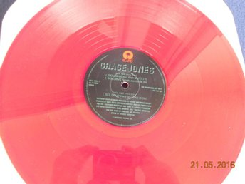 "GRACE JONES - Sex Drive, 12"" Island Promo röd vinyl PR12-5500-1, USA 1993"