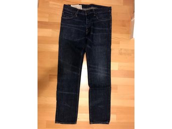 Abercrombie & Fitch Rollins Low Rise Skinny Fit Jeans - 32x32 - mörkblå