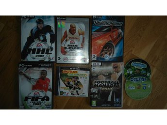 NHL + FIFA Fotboll + BASKET + Rally 6st PC-spel