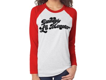 SUICIDE SQUAD - DADDY'S LITTLE MONSTER (BASEBALL SHIRT) - Small