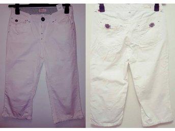 JACKPOT Vita Shorts Dam Strl. 27 vitt blanc white knälånga coola jeans vit fina - Tyresö - JACKPOT Vita Shorts Dam Strl. 27 vitt blanc white knälånga coola jeans vit fina - Tyresö