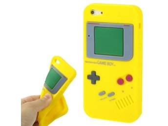 iPhone 5/5S Silikonskal Game Boy Gul