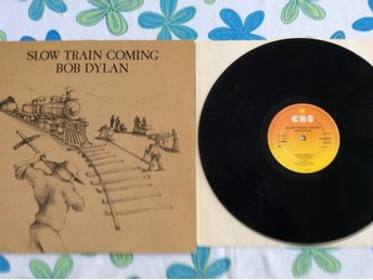 Bob Dylan slow train coming UK Orig 79 CBS