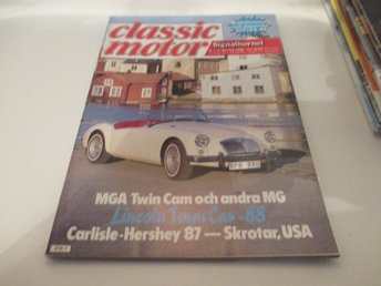 Classic motor Signalhornet nr 1-2 1988 MGA..Lincoln town ca