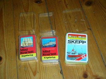 Kvartettspel mini Krigsfartyg Segelfartyg Internationella Skepp Kärnan ASS - Vänge - Kvartettspel mini Krigsfartyg Segelfartyg Internationella Skepp Kärnan ASS - Vänge