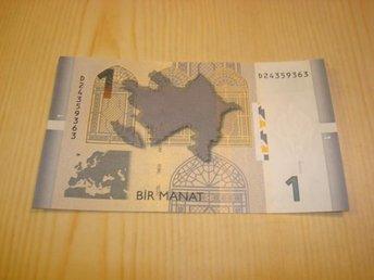 2009 Azerbajdzjan 1 Manat ocirkulerad och ovikt UNC - Jämjö, Blekinge - 2009 Azerbajdzjan 1 Manat ocirkulerad och ovikt UNC - Jämjö, Blekinge