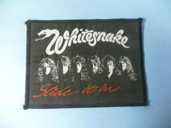 "WHITESNAKE - TYGMÄRKE ""Slide It In"""