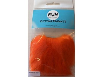 Flugfiske Flugbindning Temple hair Orange