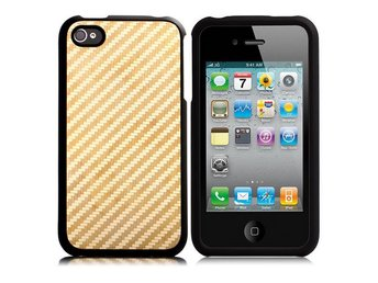 Carbon Metallic - ClickOn (Gyllene) iPhone 4/4S Skal
