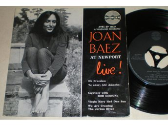 Joan Baez EP/PS At Newport Live 196? VG++