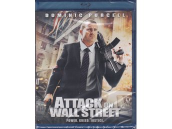 ATTACK ON WALL STREET-DOMINIC PURCELL-SVENSK TEXT-NY O INPLASTAD BLURAY-DISC.