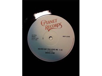 "David Lyme – Never say you love me (Planet 12"")"