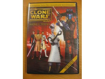 STAR WARS THE CLONE WARS - SÄSONG 1 V4 - 6 EPISODER- NY, INPLASTAD DVD