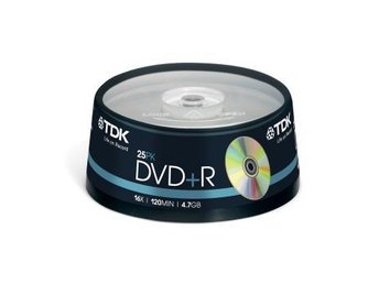 TDK DVD+R 4.7GB 25-p cakebox