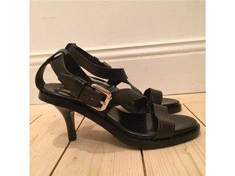 Sandal med remmar & klack svarta size 38 - Stockholm - Sandal med remmar & klack svarta size 38 - Stockholm