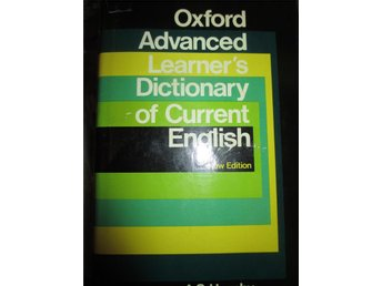 Engelsk ordbok, Oxford Advanced Learner´s Dictionary of current English