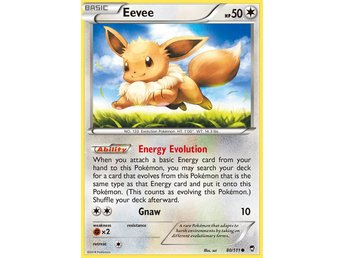 Pokémonkort: Eevee 80/111 [Furious Fists] NM