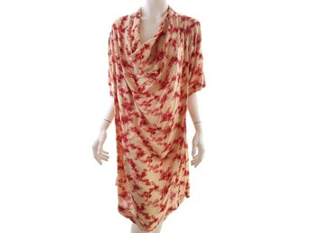 Noa noa size XXL Dress pattern red viscose 100% beige