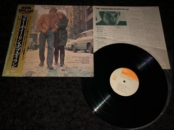 BOB DYLAN FREEWHEELIN BOB DYLAN JAPAN LP OBI BOOKLET RARE