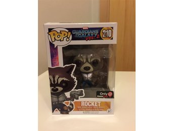 Funko Pop Guardians of the Galaxy Vol 2 Rocket GameStop Exclusive figur Marvel