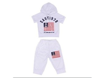 Funny New Summer Children Clothing Boys Hooded T-shirt And Pants Suits str2-3 år
