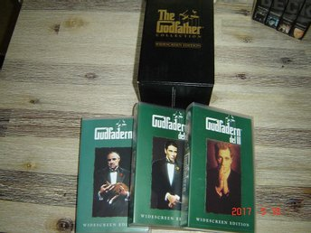 Gudfadern Collection Widescreen Edition VHS Box
