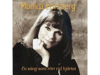 Monica Forsberg -En sång som rör SIGNERAD cd Hasse Andersson - Motala - Monica Forsberg -En sång som rör SIGNERAD cd Hasse Andersson - Motala