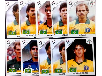PANINIs  STICKERS - ITALY 90 -  BRASILIAN PLAYERS.