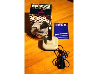 Boxad Wico Boss joystick med manual C64 Amiga atari box
