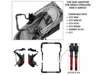 Baby Jogger bilstols-adapter (car seat adapter)