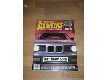 Teknikens Värld nr 9, 1988, Test BMW 530i