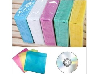 100Pcs CD DVD Double Sided Cover Storage Case PP Bag Sleeve Envelope Holder GU