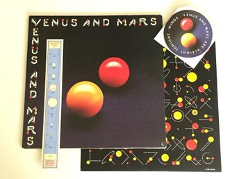 Wings - Venus And Mars (Vinyl LP) (Beatles/Paul McCartney) inkl. KLISTERMÄRKEN!