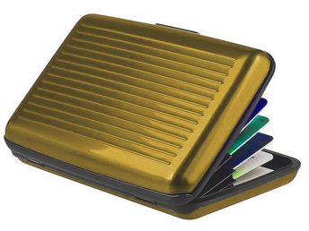 Aluminium Korthållare, Plånbok, Kreditkort, GULD - Halmstad - Aluminium Korthållare, Plånbok, Kreditkort, GULD - Halmstad